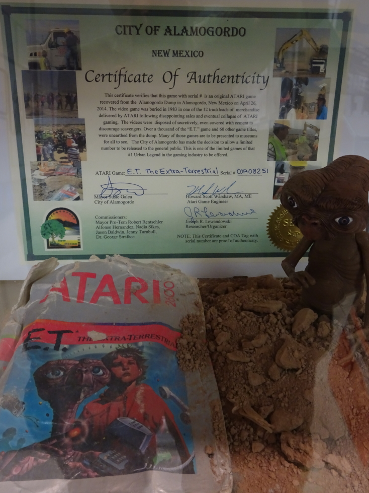 E.T. Atari 2600 cartridge recovered from the New Mexico desert