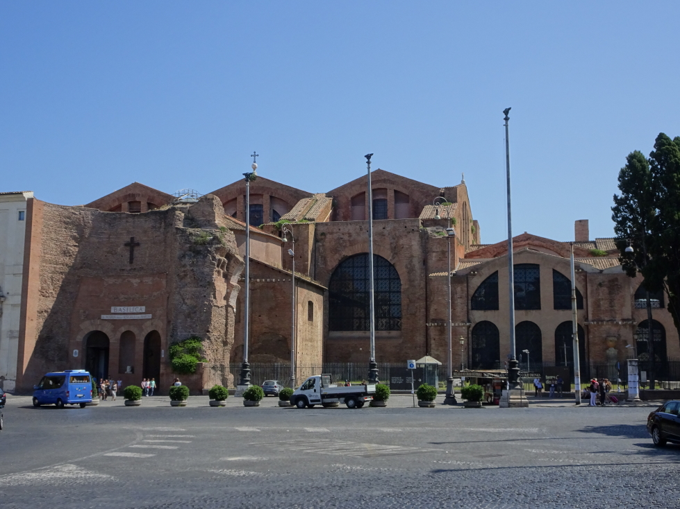 Basilica built within and from the ruins of the Baths of Diocletian