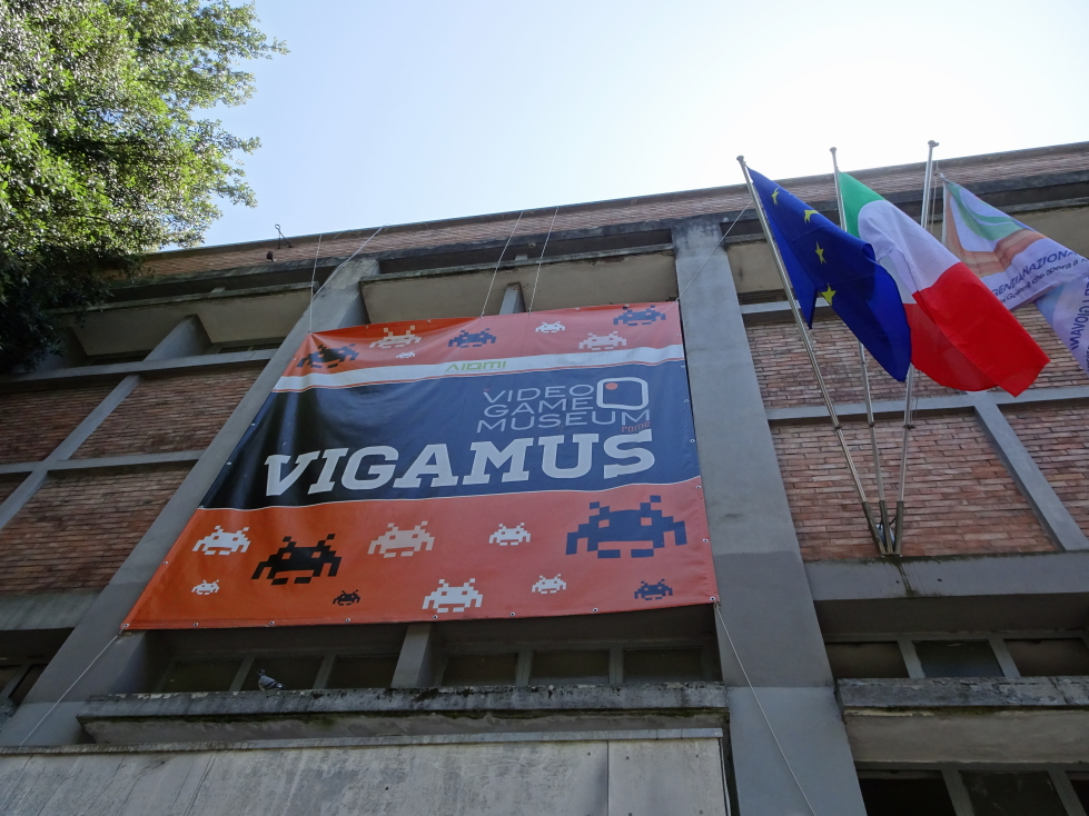Entrance to Rome's VIGAMUS, a video game museum