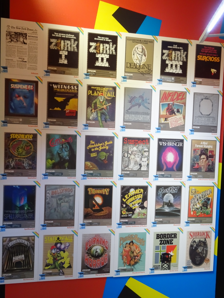 So many wonderful Infocom games depicted here!