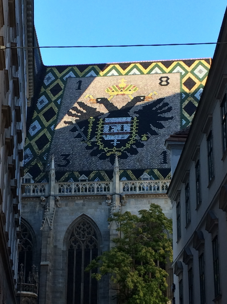 Elaborate tile roof of the Domkirche St. Stephan, St. Stephen's Cathedral