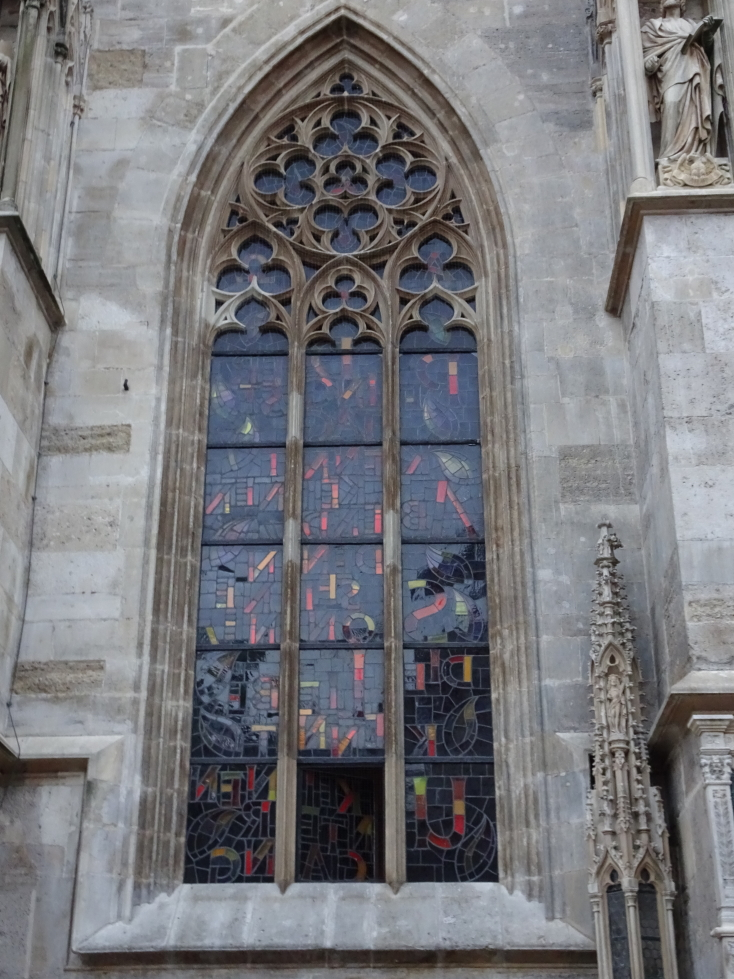 Stained glass window of St. Stephen's Cathedral