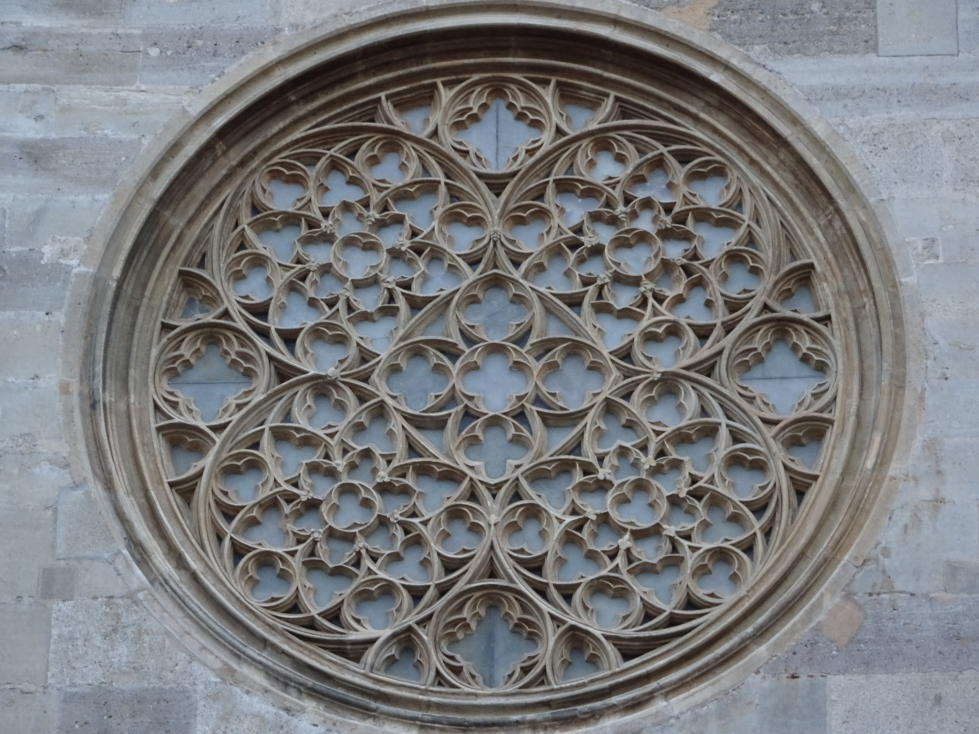 Amazing stone filigree adorned the cathedral's windows