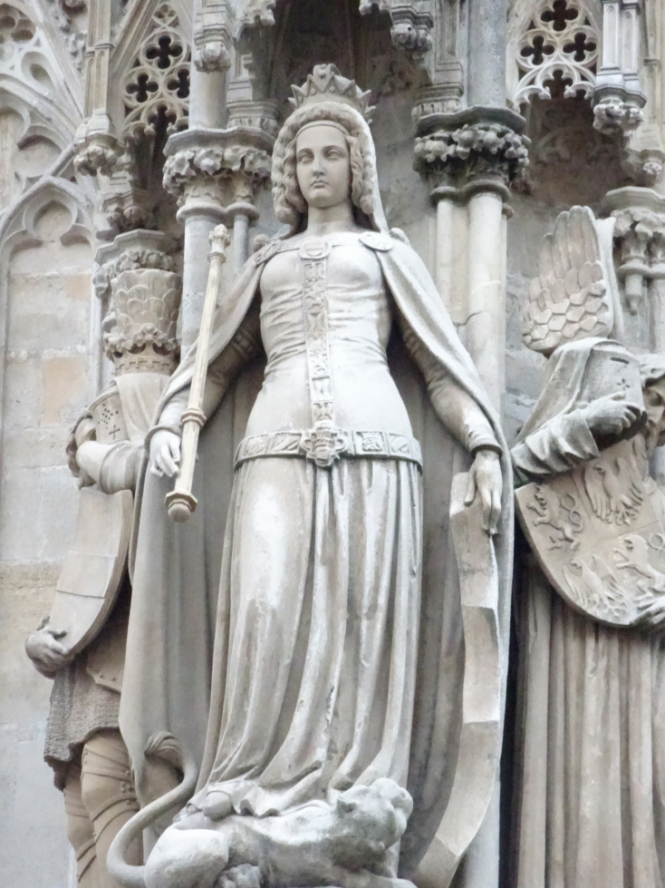 Statue on the exterior of St. Stephen's Cathedral