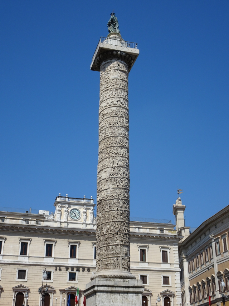 Column of Marcus Aurelius from the 2nd century AD depicting victory in the Danubian wars