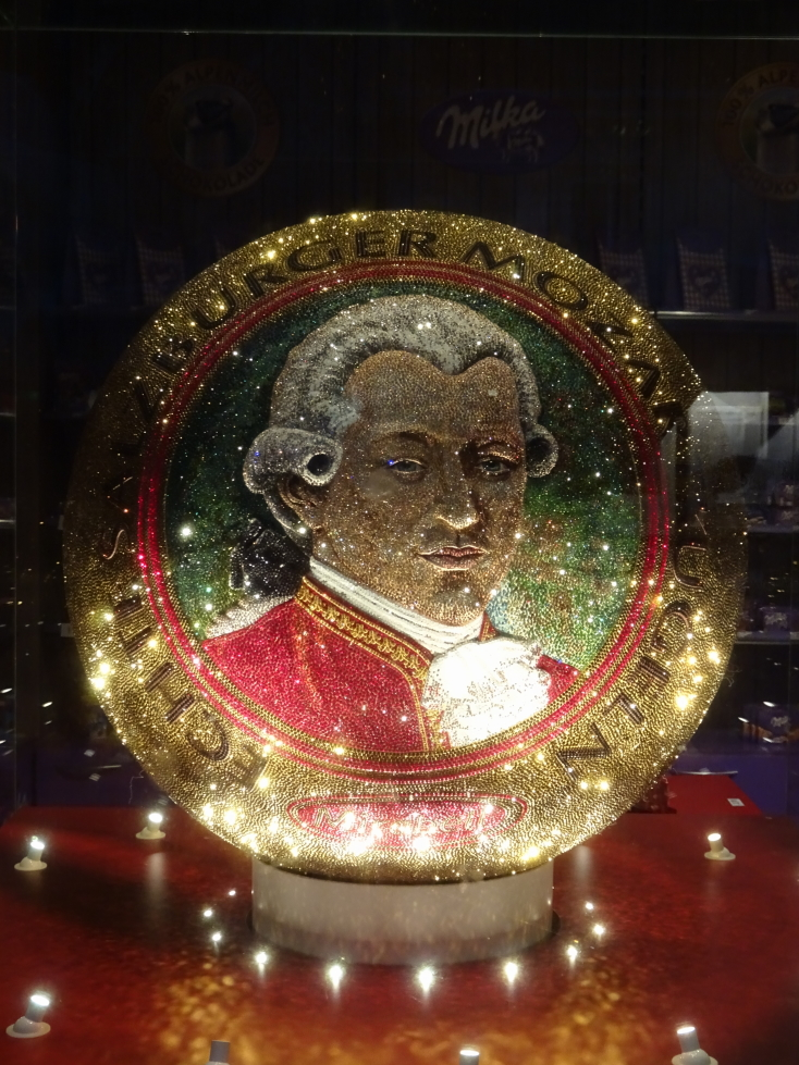 Mozart's likeness is everywhere in Vienna