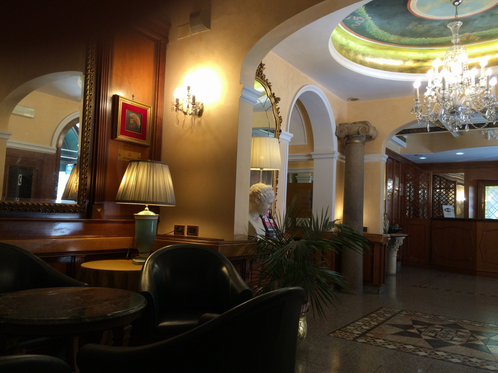 Lobby / bar area of the Hotel Bolivar, Rome