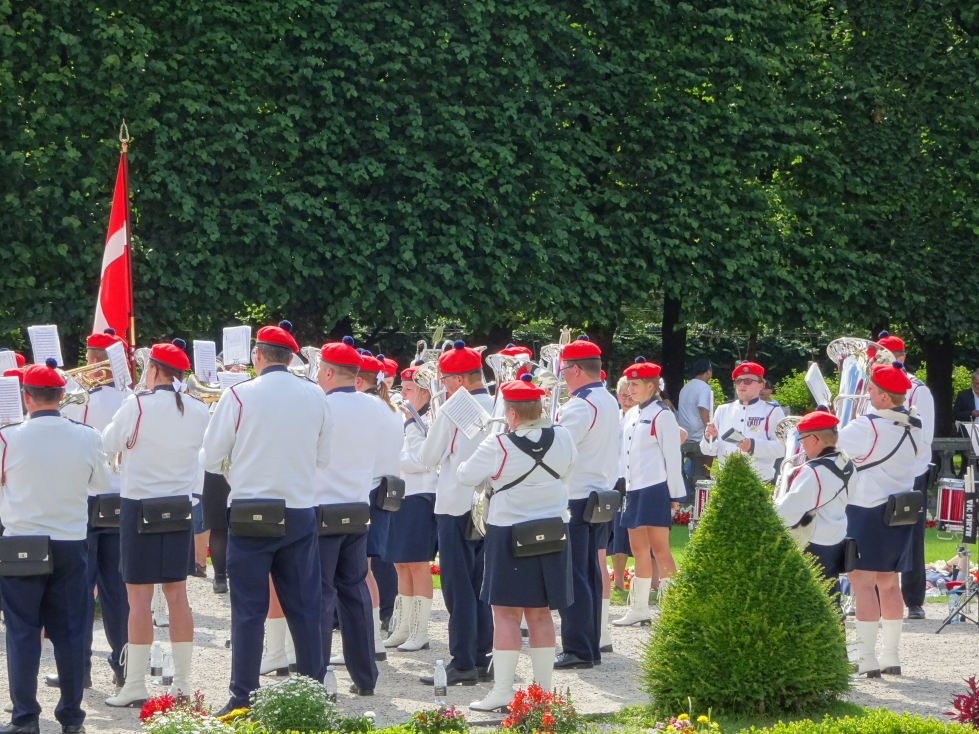 Band performing at Schloss Mirabell in Salzburg