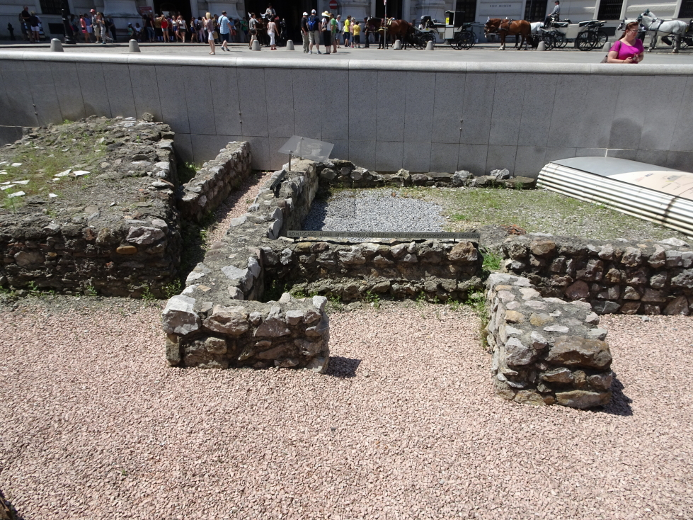 Remains of Roman walls in Michaelerplatz