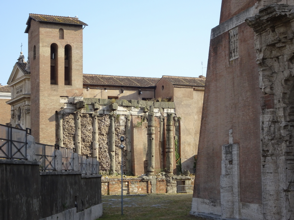 San Nicola in Carcere, built on top of, and within, Roman ruins
