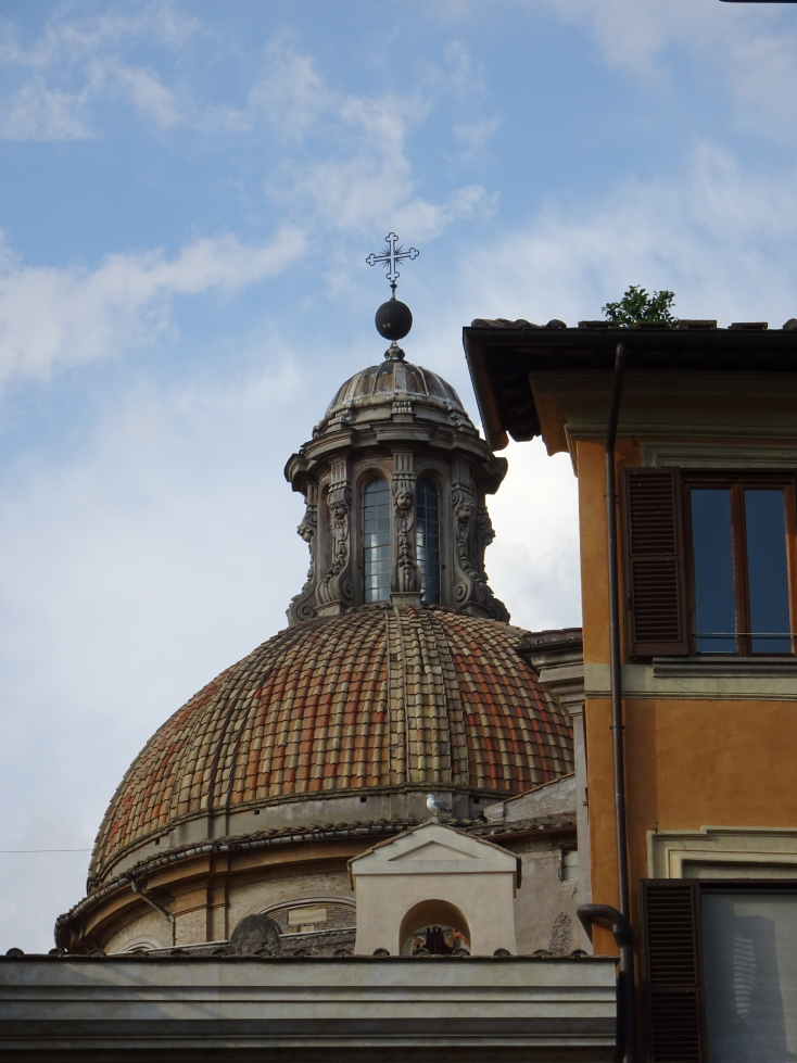Pretty church dome in Rome