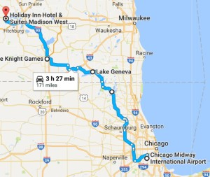 Route for July 1, 2017