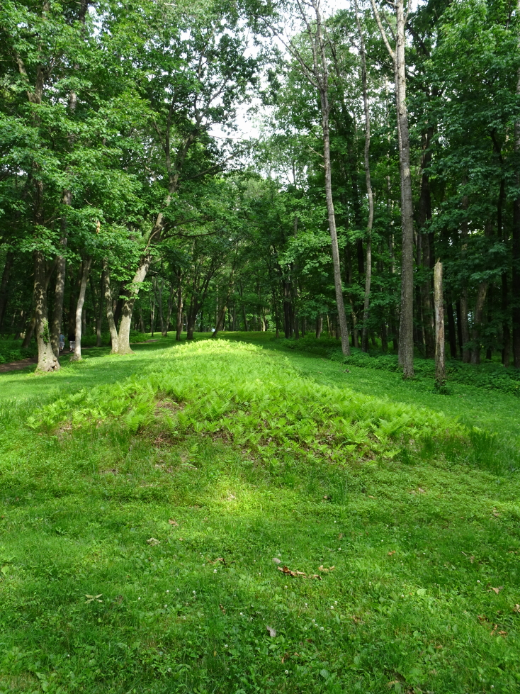 One of the mounds at Effigy Mounds NM in Iowa