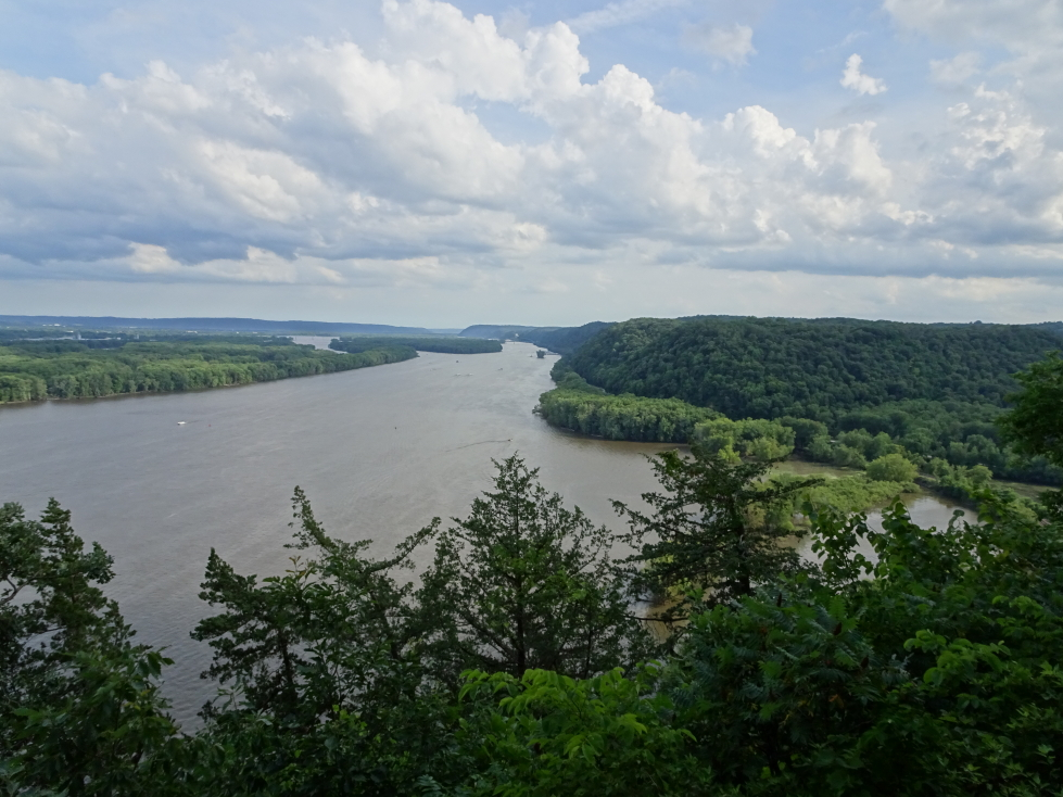 View of the Mississippi looking south from Fire Point