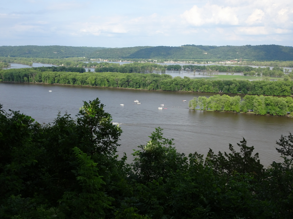 View of the Mississippi looking north from Fire Point