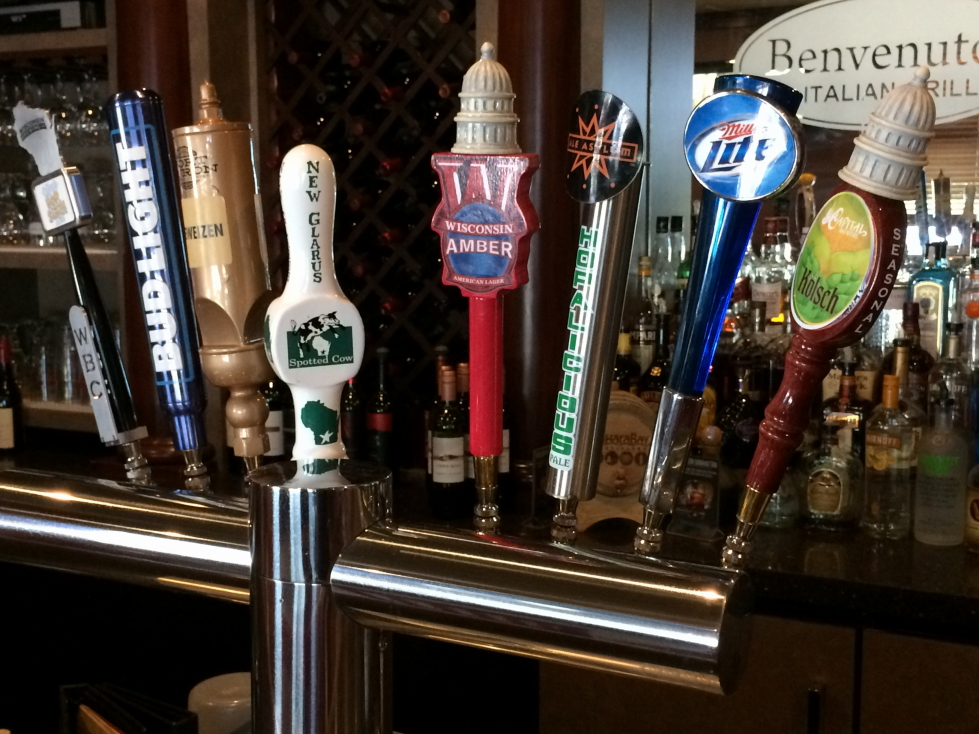 Wisconsin themed taps