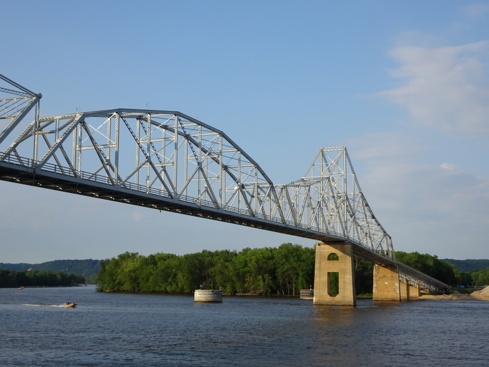 One of many bridges across the Mississippi