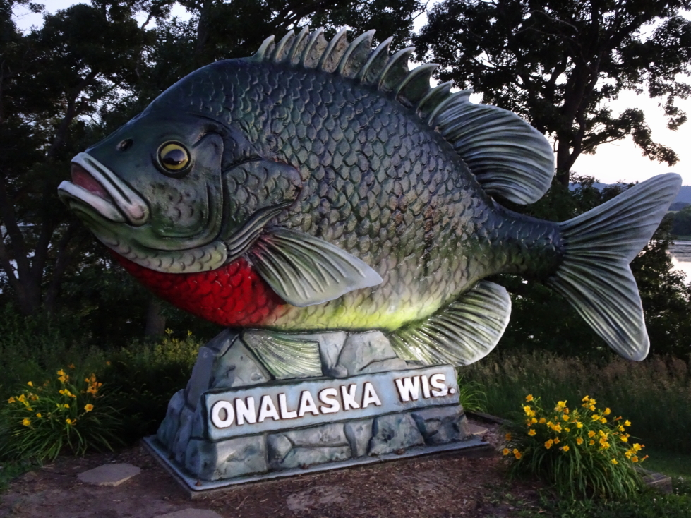Sign for Onalaska, Wisconsin