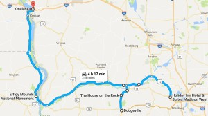 Route for July 2, 2017