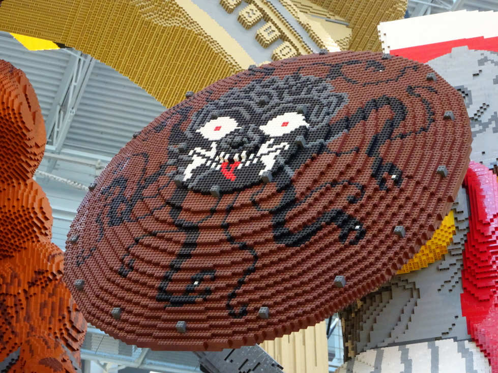 Detail of a shield held by a LEGO Greek warrior