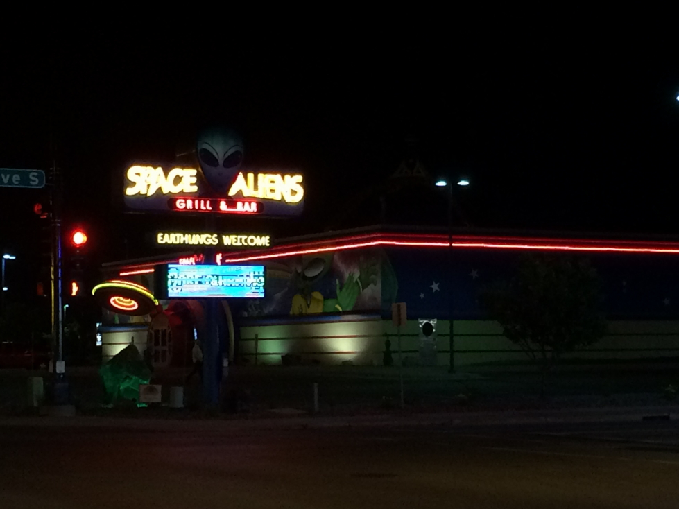 Space Aliens restaurant in Fargo, North Dakota