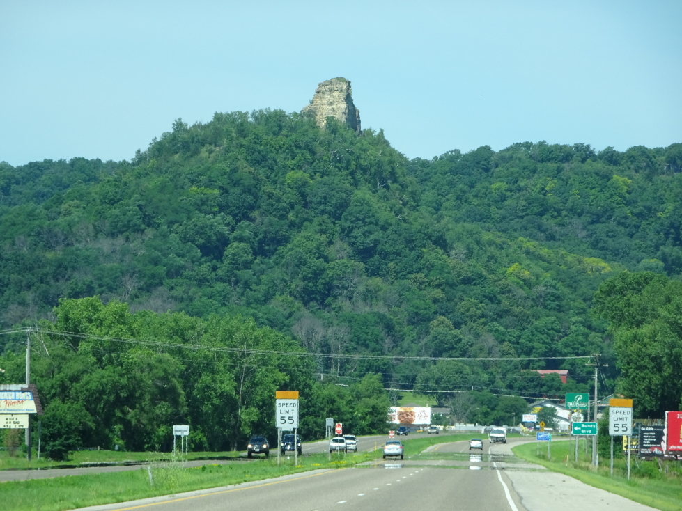 Rocky outcropping in southern Minnesota