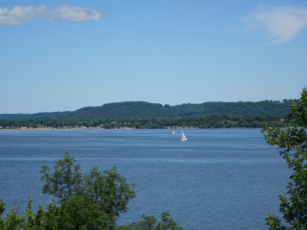 Lake Pepin between Minnesota and Wisconsin