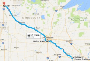 Route for July 3, 2017