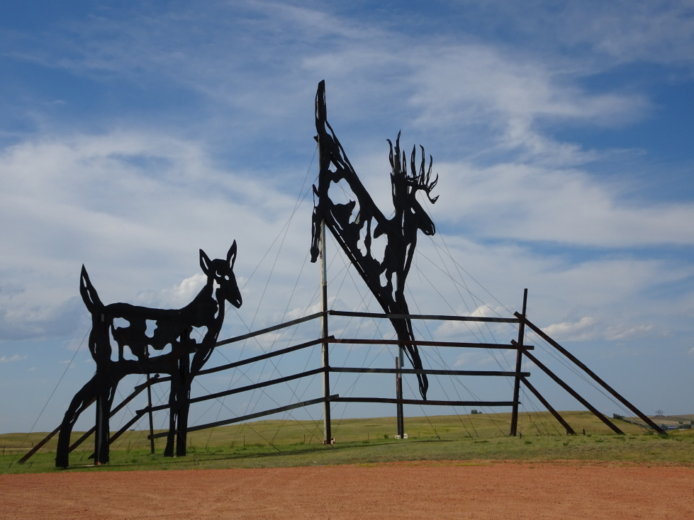 Deer sculpture along the Enchanted Highway