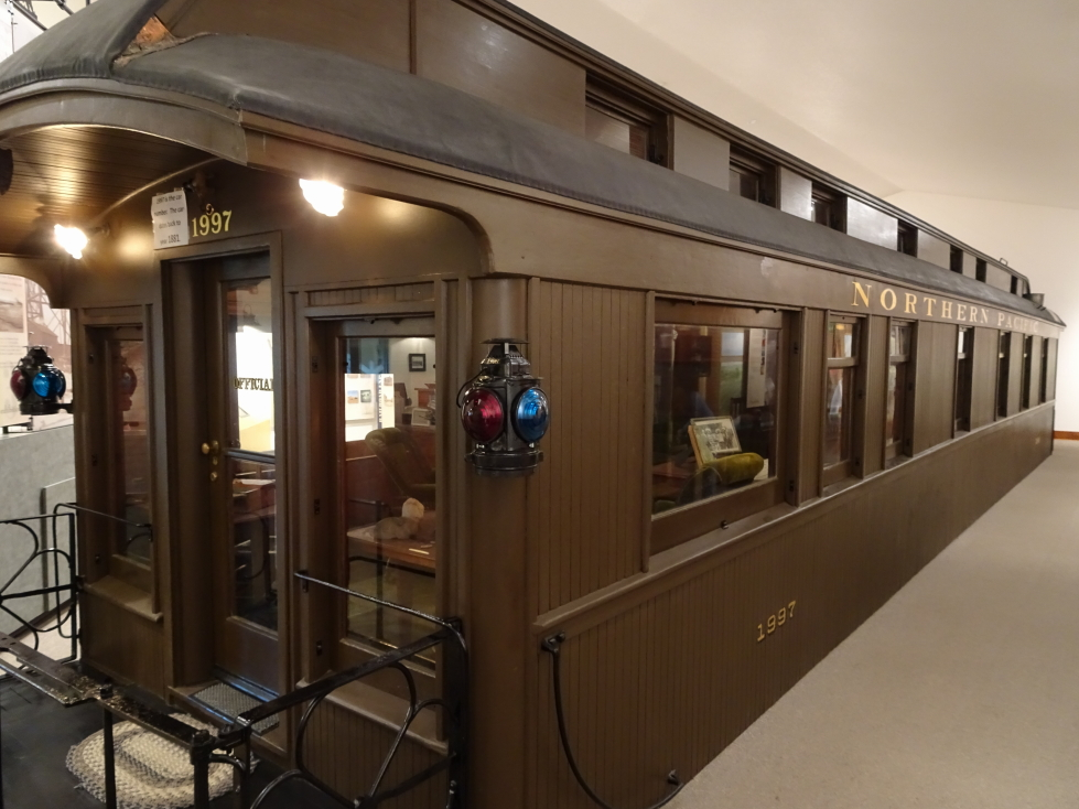 Passenger car used as an office in the 1880s