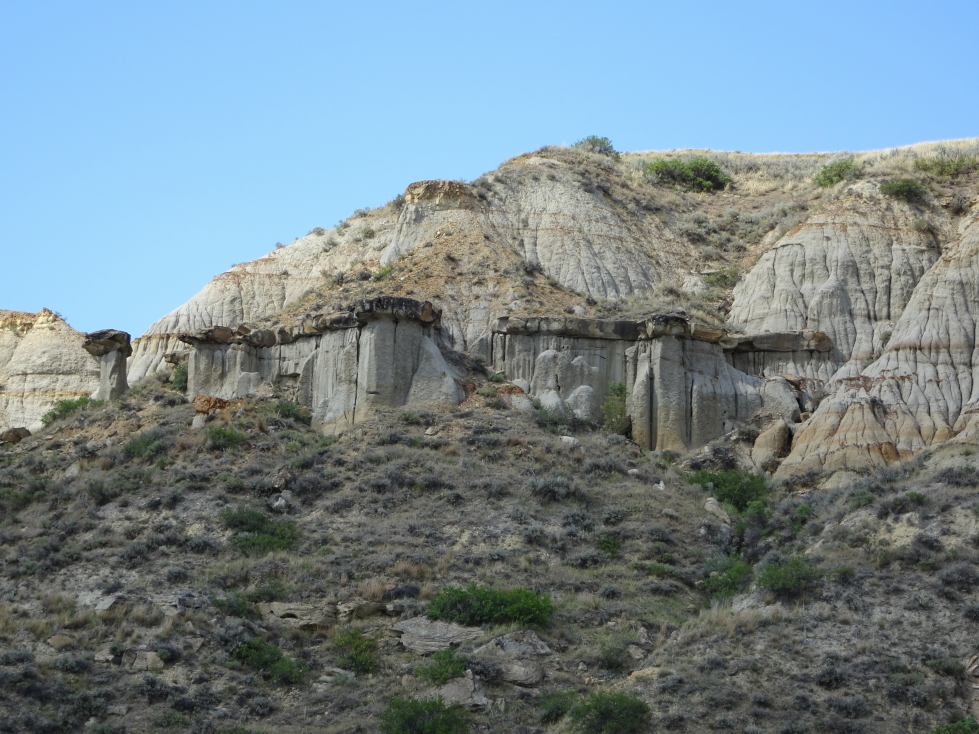 Cool rock formations in Theodore Roosevelt National Park