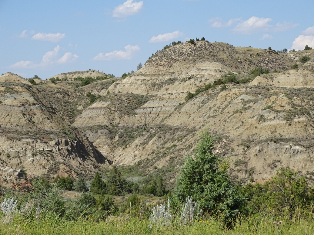 Badlands in Theodore Roosevelt NP