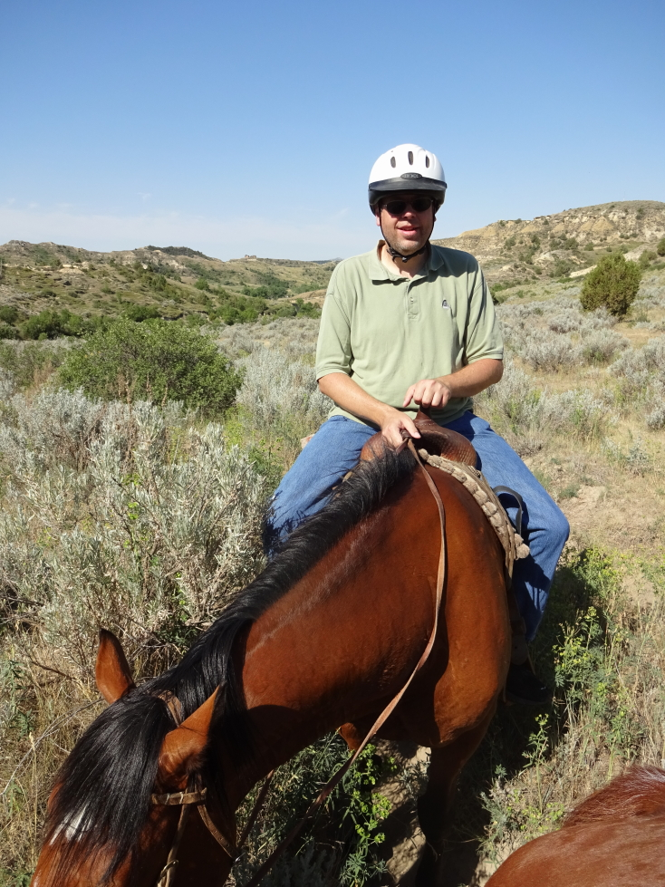 Here I am atop my horse