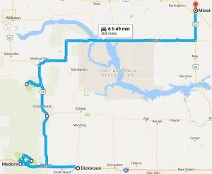 Route for July 5, 2017