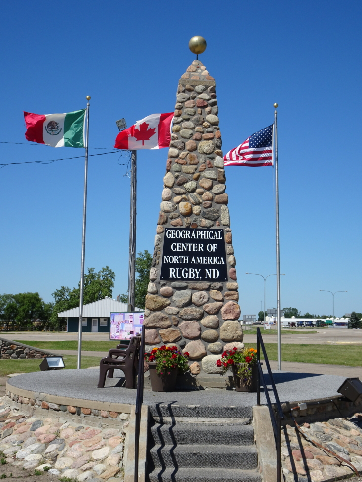 Geographic Center of North America in Rugby, North Dakota
